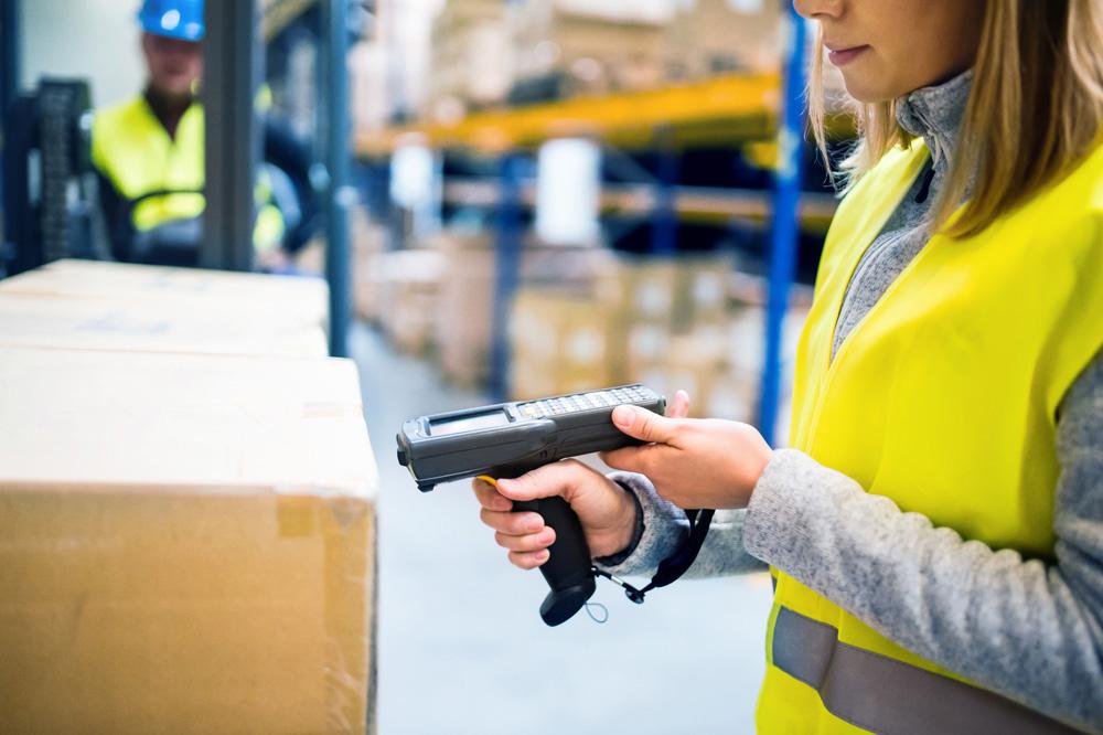 Digitale Lagerverwaltung Handscanner